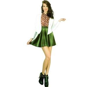 nwot olive green velvet skater skirt sexy mini